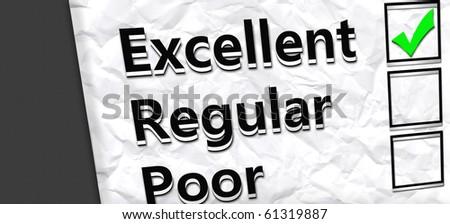 Excellent services paper. - stock photo