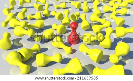 exception - stands out - stock photo