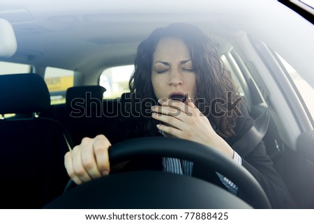 Excessively tired - stock photo