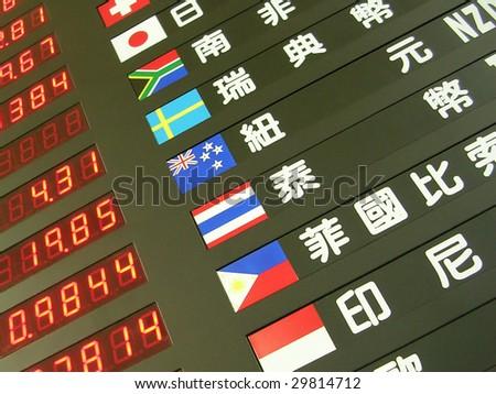 exchange board - stock photo
