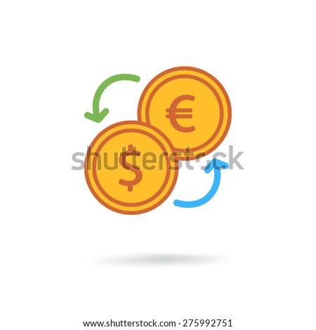Exchange icon - stock photo