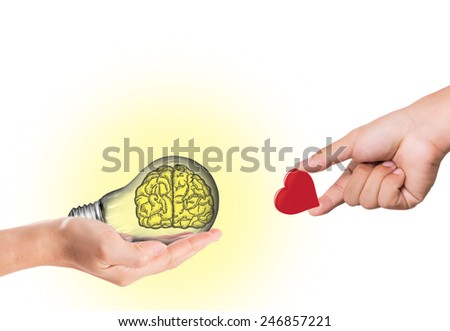 Exchange idea and love concept with white background