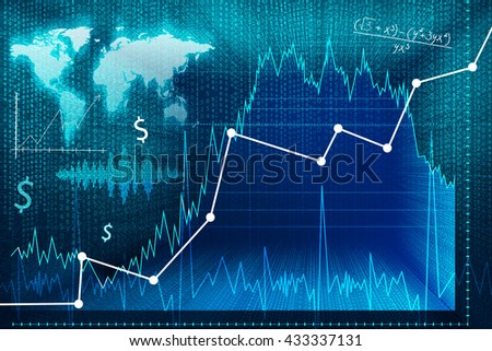 Exchange market screen. Elements of this image furnished by NASA.