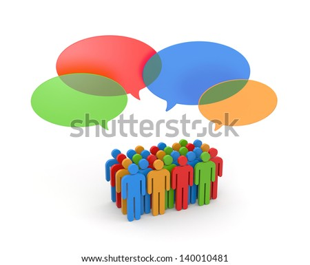Exchange of opinions. Gossip - stock photo
