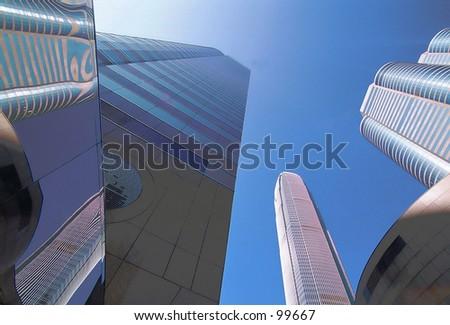Exchange Square, Hong Kong - stock photo