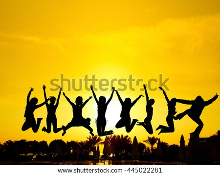 Excited Evening Celebration  - stock photo