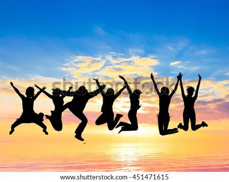 Excited Evening Celebration  - stock photo