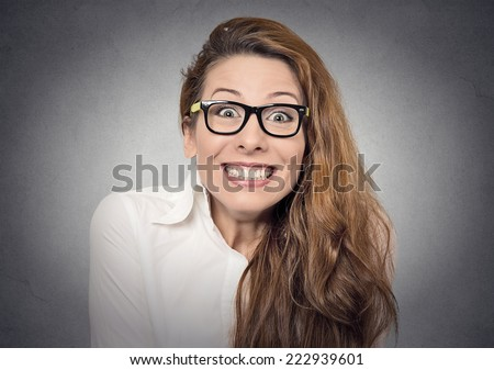 excited girl - stock photo