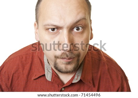 excited young man looking with confidence - stock photo