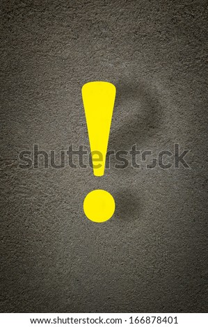 Exclamation and a question mark over a grunge background. - stock photo