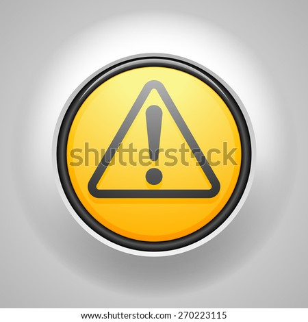 Exclamation  button - stock photo