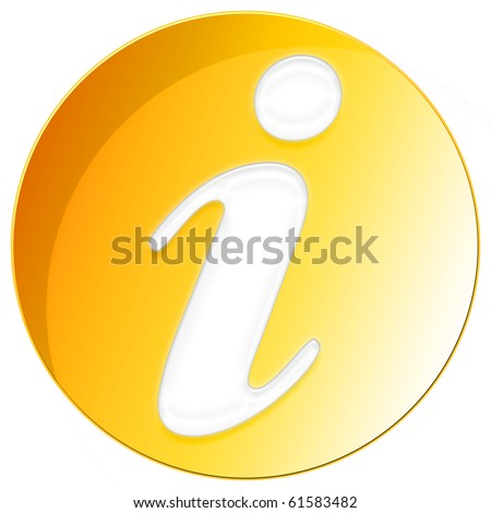 Exclamation Icon - orange color - stock photo