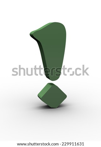 Exclamation mark - stock photo