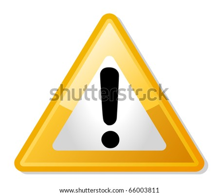 Exclamation Mark Yellow Triangle Shaped Warning Stock ...