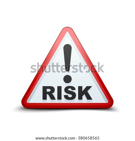 Exclamation Risk sign - stock photo