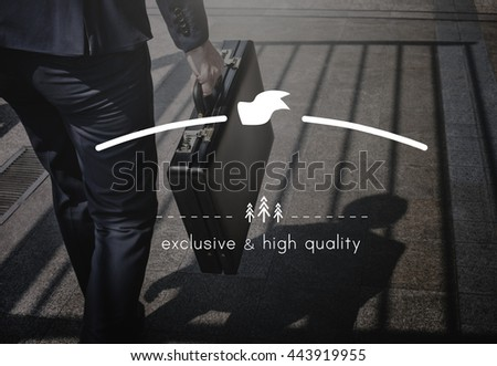 Exclusive High Quality Elegance Value Private Rank Concept - stock photo