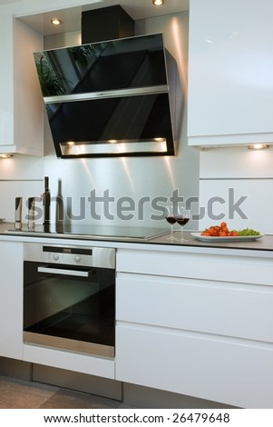 Exclusive kitchen - stock photo