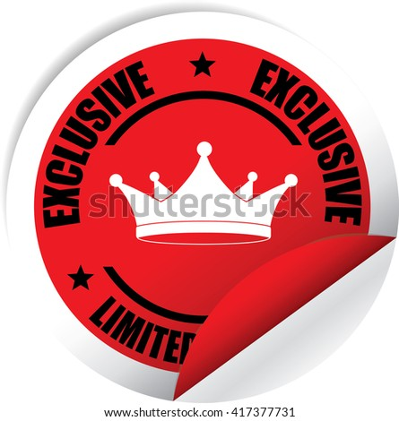 Exclusive Limited Edition Red Label, Sticker, Tag, Sign And Icon Banner Business Concept, Design Modern. - stock photo