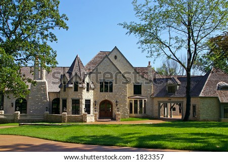 exclusive mansion - stock photo