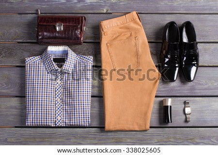 Exclusive menswear. Men's clothing store. - stock photo