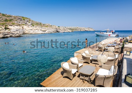 Exclusive sea bay in Kallithea Springs - stock photo