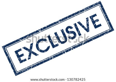 exclusive stamp - stock photo