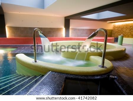exclusive swimming pool - stock photo