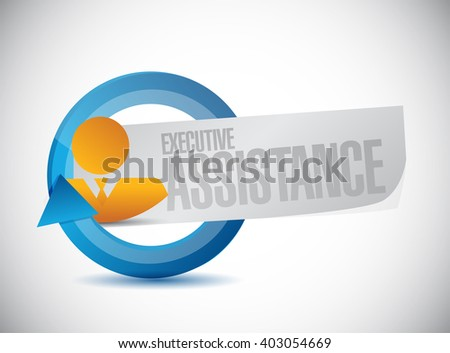 executive assistance businessman cycle sign concept illustration design graphic - stock photo