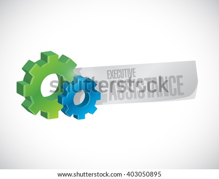 executive assistance industrial sign concept illustration design graphic - stock photo