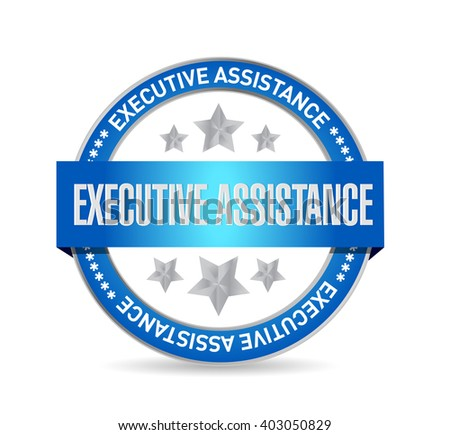 executive assistance seal sign concept illustration design graphic - stock photo