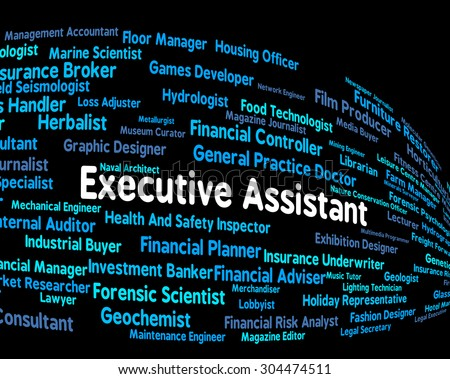 Executive Assistant Showing Director General And Jobs - stock photo