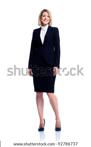Executive business woman. Isolated over white background - stock photo