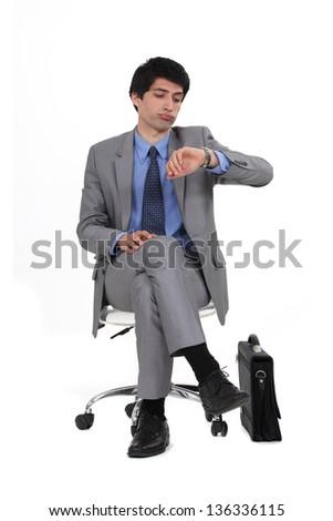 Executive businessman - stock photo