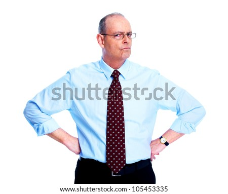 Executive businessman. Isolated on white background. - stock photo