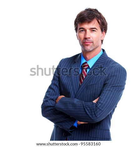 Executive businessman. Isolated over white background.