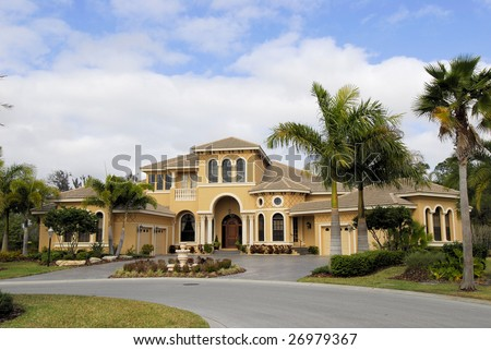 Executive home in country club located in florida - stock photo