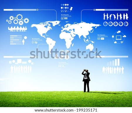 Executive Looking Ahead - stock photo