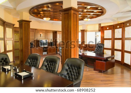 Executive office made in the classic style - stock photo