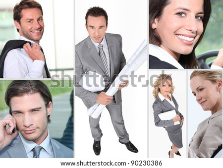 Executive themed collage - stock photo
