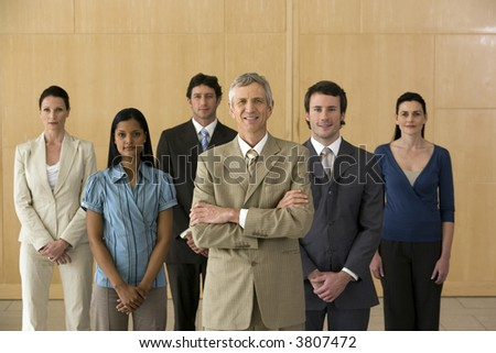 Executive with his team - stock photo