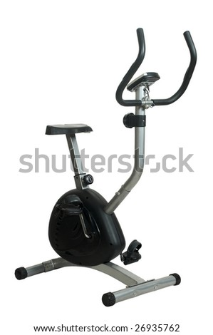 exercise bicycle - stock photo