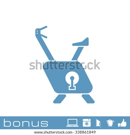 exercise bike icon - stock photo