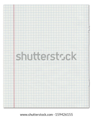 Exercise book in a cage on a white background