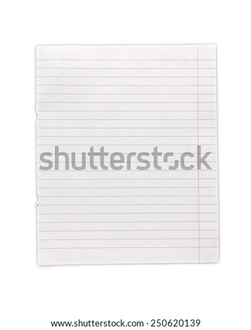 Exercise book on line - stock photo
