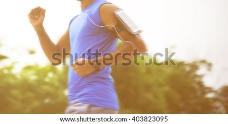 Exercise Enjoyment Lifestyle Activity Concept - stock photo