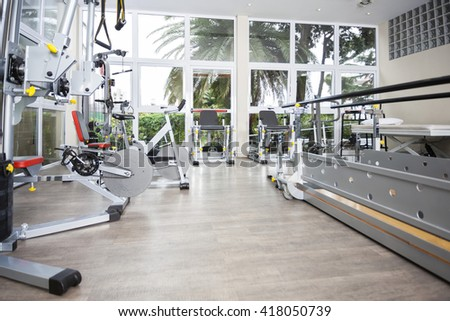 Exercise Equipment Of Rehab Center - stock photo