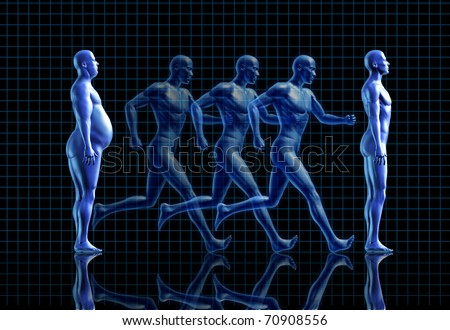 exercise fitness weight loss gym obese fit health symbol healthy living lifestyle human - stock photo