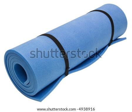 Exercise Mat - isolated on white - stock photo