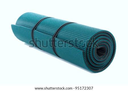 Exercise Mat, isolated over white background - stock photo