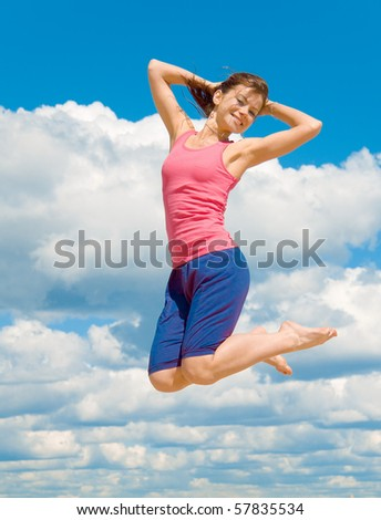 Exercise on the Hot Sand - stock photo